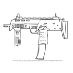 How to Draw MP7 from Counter Strike