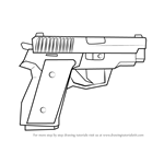 How to Draw P228 from Counter Strike