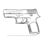 How to Draw P250 from Counter Strike
