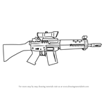 How to Draw SG 552 from Counter Strike