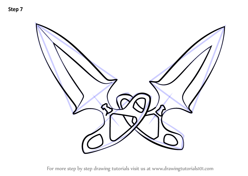 learn how to draw shadow daggers from counter strike