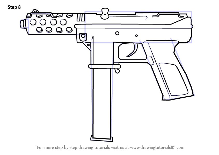 Learn How To Draw Tec 9 From Counter Strike Counter