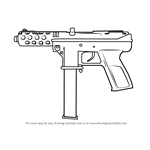 How to Draw Tec-9 from Counter Strike