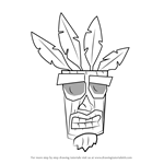 How to Draw Aku Aku from Crash Bandicoot