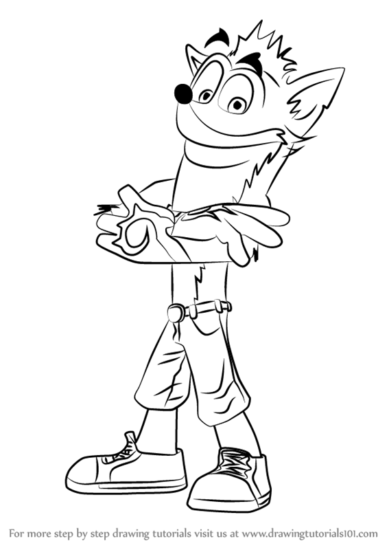 Learn How to Draw Crash Bandicoot