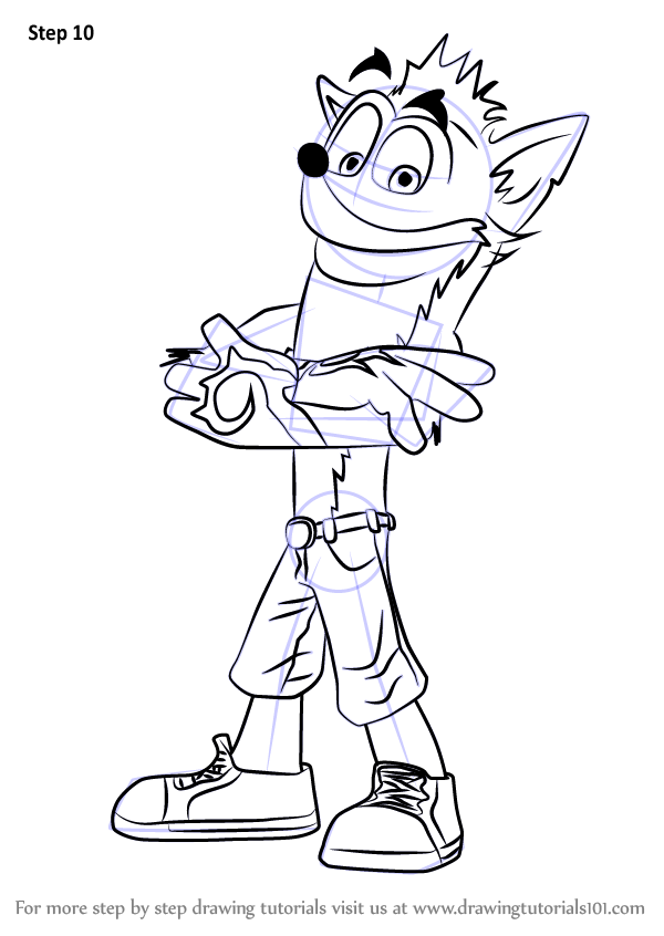 Free crash bandicoot coloring pages