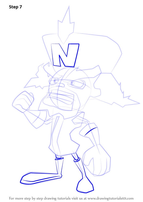learn how to draw doctor neo cortex from crash bandicoot