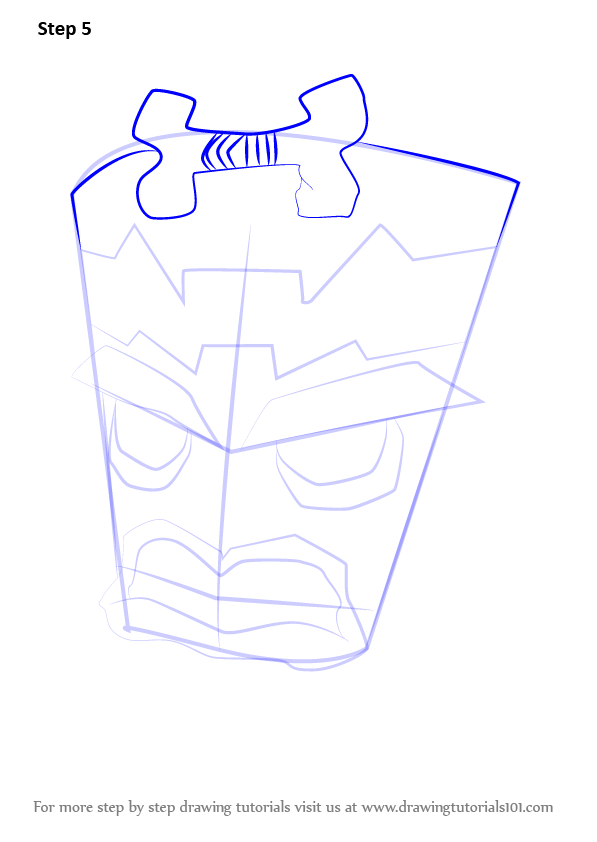 How To Draw Uka Uka From Crash Bandicoot Step