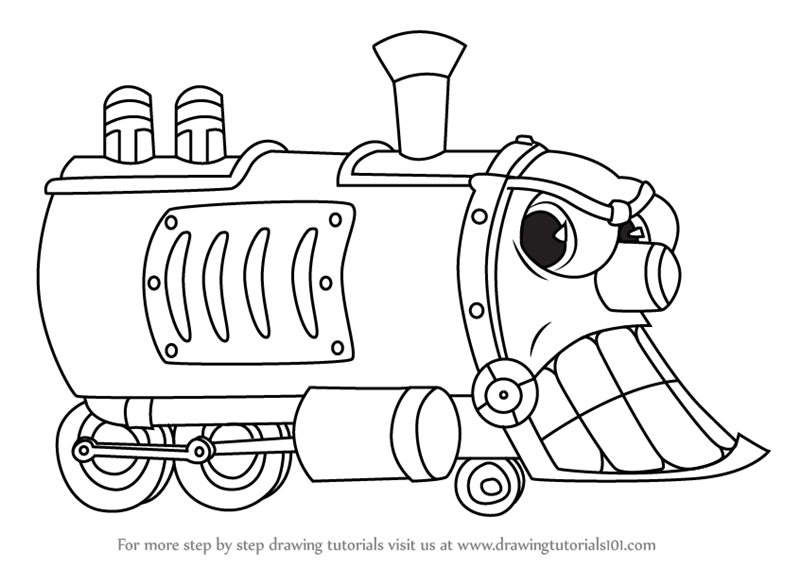 Learn How To Draw Head Of The Train From Cuphead Cuphead