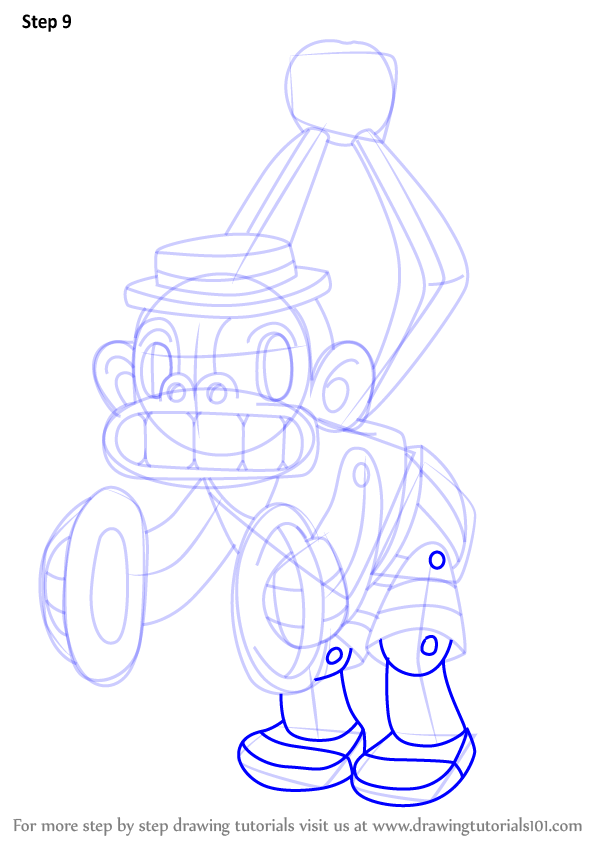 Learn How To Draw Mr Chimes From Cuphead Cuphead Step