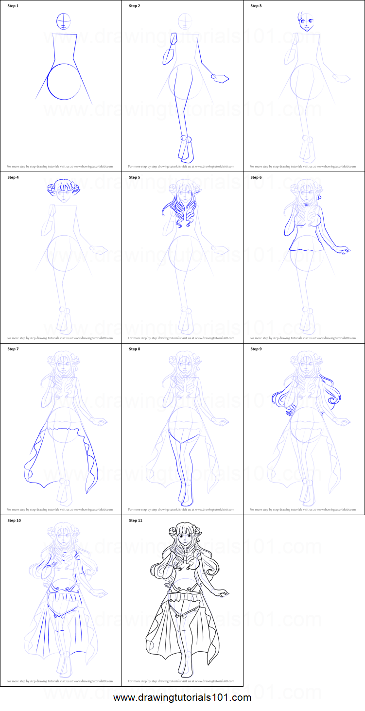 How To Draw Mirari From Cute Demon Crashers Printable Step By Step