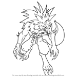 How to Draw Dark Talbain from Darkstalkers