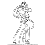 How to Draw Donovan Baine from Darkstalkers