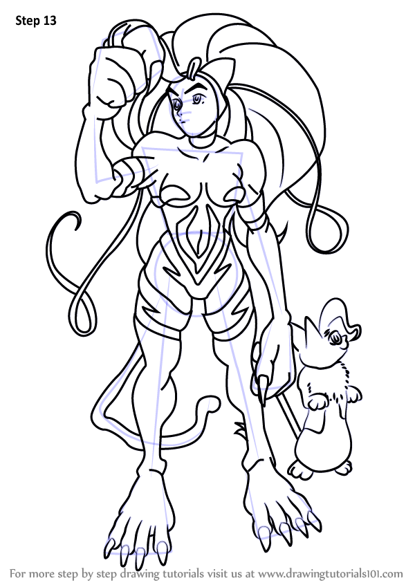 Learn How To Draw Felicia From Darkstalkers Darkstalkers