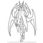 How to Draw Jedah Dohma from Darkstalkers