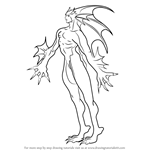 How to Draw Rikuo from Darkstalkers