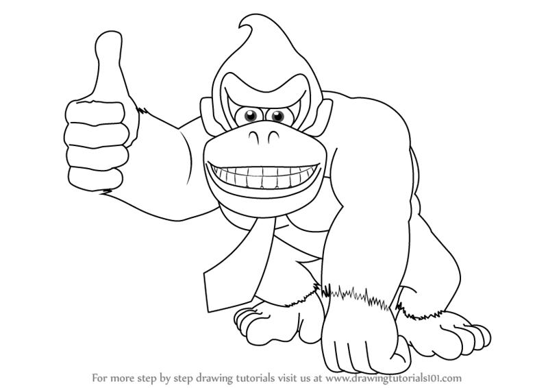 how to draw Donkey Kong step 0