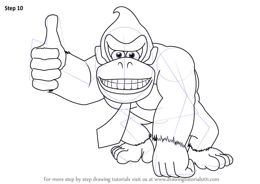 donkey kong sketch images free download how to draw goku easy