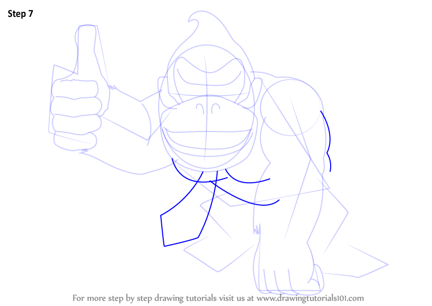 Learn How to Draw Donkey Kong (Donkey Kong) Step by Step ...
