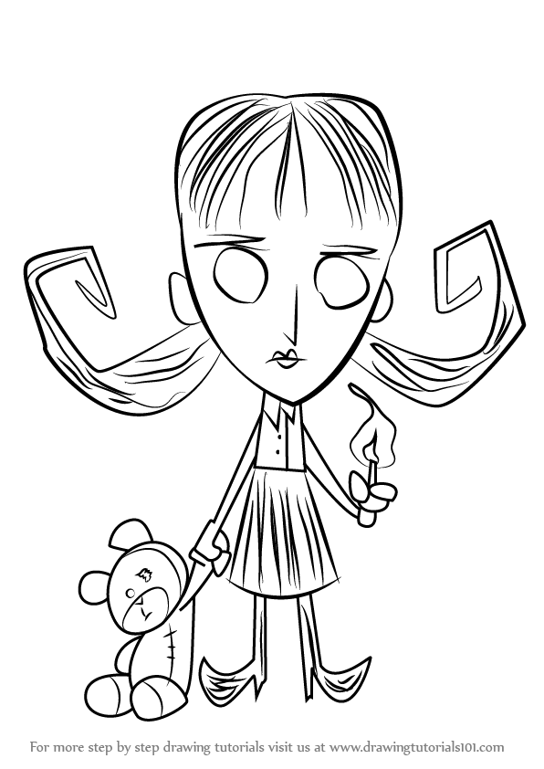 Step By Step How To Draw Willow From Don T Starve