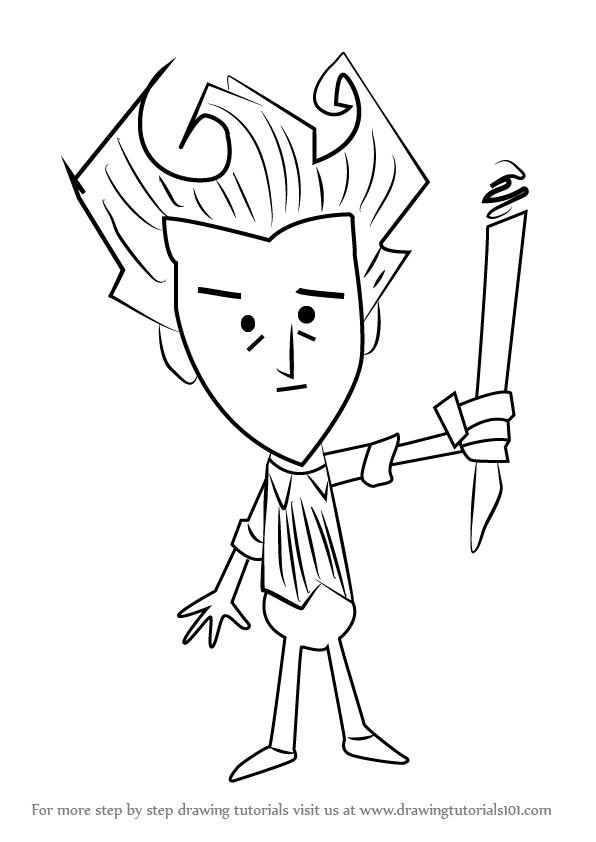 Learn How To Draw Wilson From Don T Starve Don T Starve