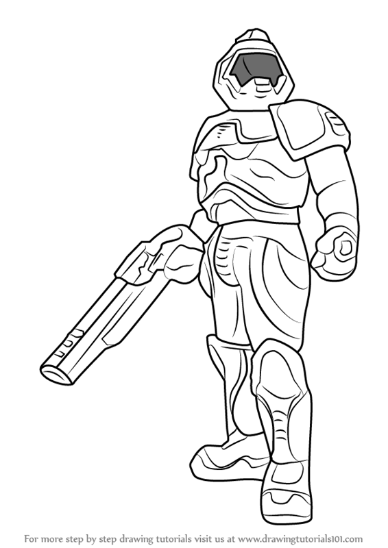 Learn How to Draw Doomguy (Doom) Step by Step : Drawing