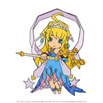 How to Draw Zethia from Dragalia Lost