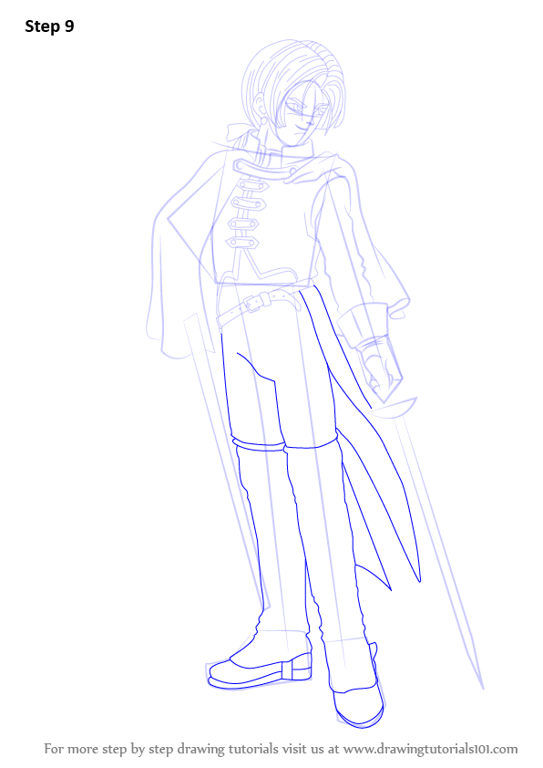 Scribble Drawing Quest : Learn how to draw angelo from dragon quest viii