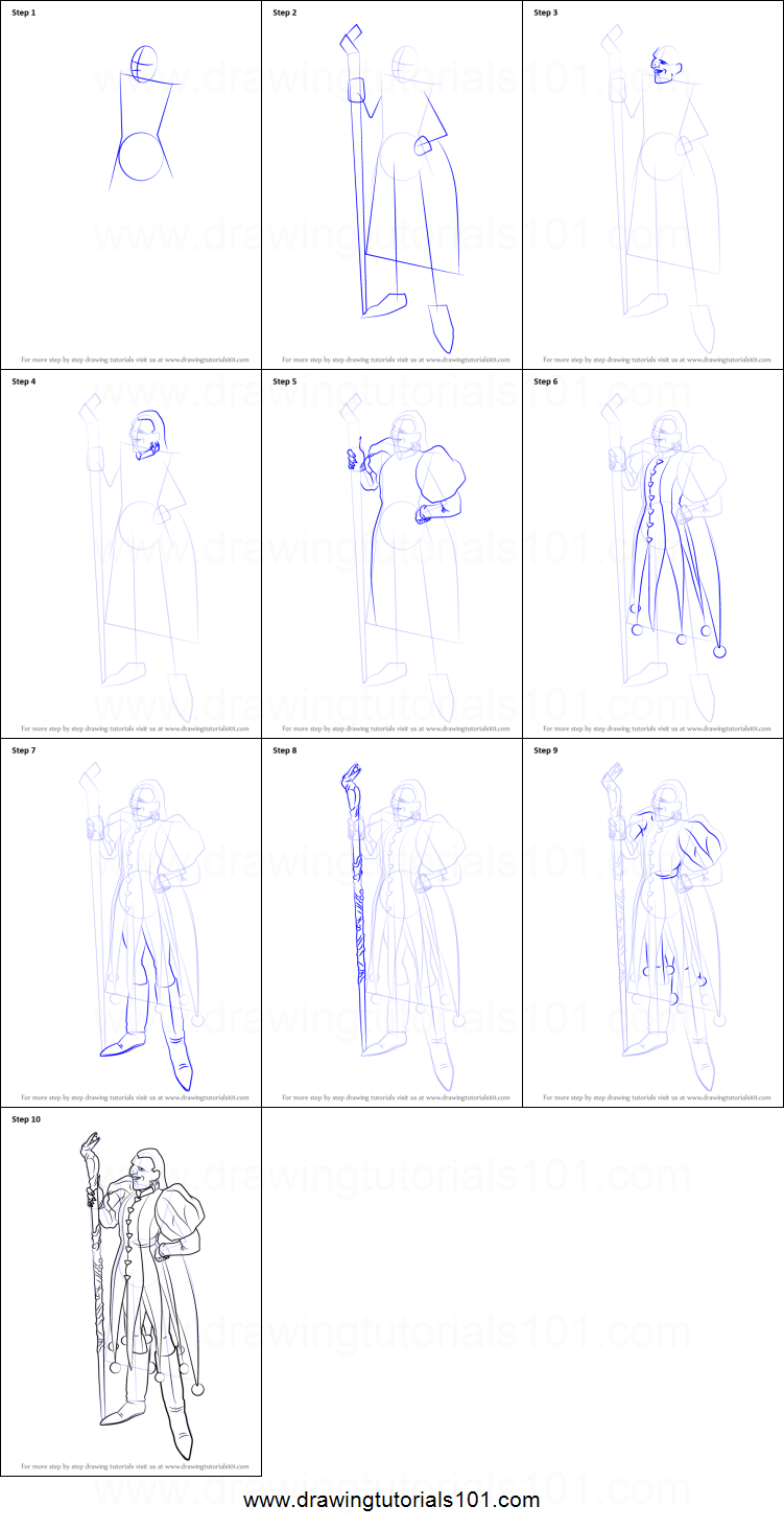 D Line Drawings Quest : How to draw dhoulmagus from dragon quest viii printable