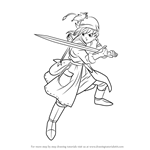 How to Draw Hero from Dragon Quest VIII