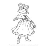 How to Draw Jessica from Dragon Quest VIII