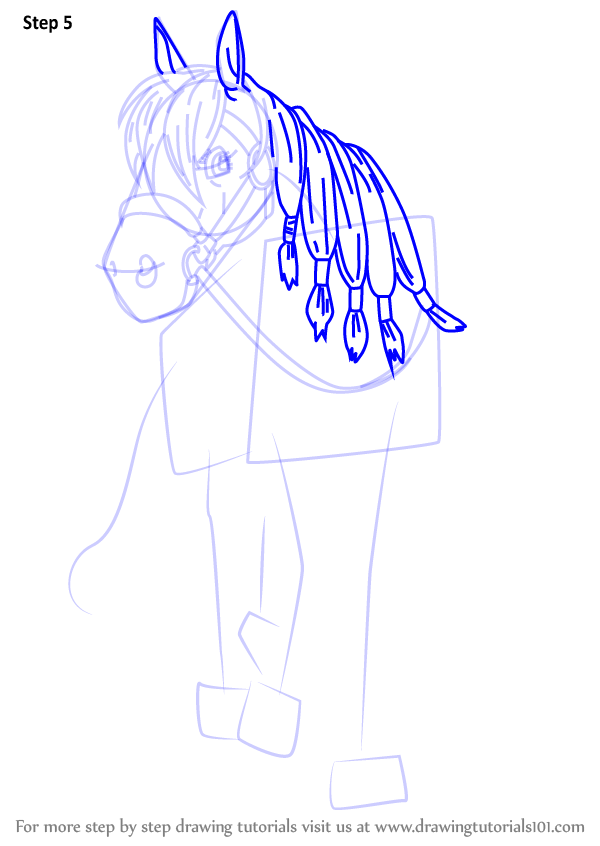 Scribble Drawing Quest : Learn how to draw princess medea horse from dragon quest
