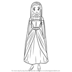 How to Draw Princess Medea from Dragon Quest VIII