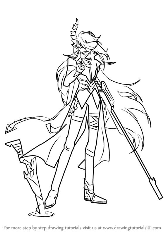 Learn How To Draw Demonio From Elsword Elsword Step By