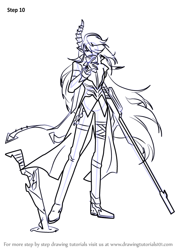 Learn How to Draw Demonio from Elsword Elsword Step by Step Drawing Tutorials