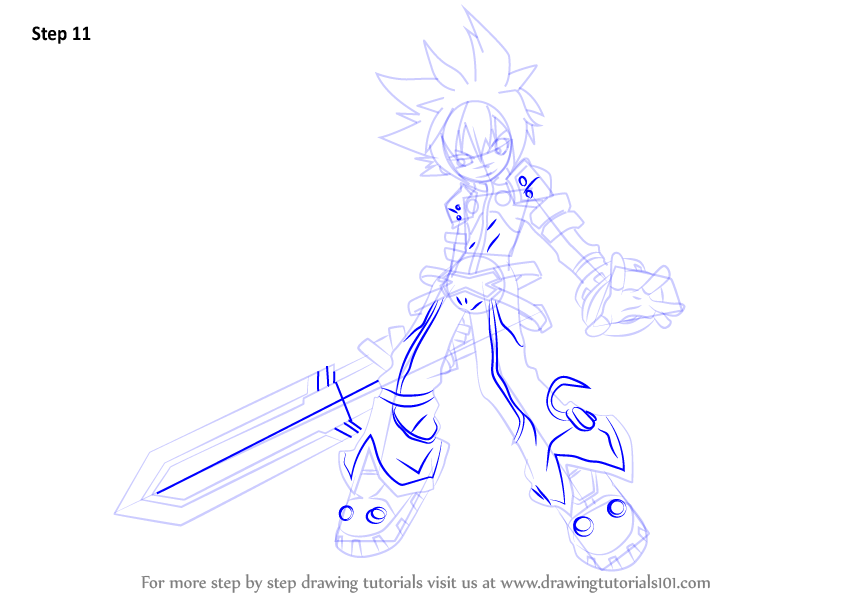 Learn How to Draw Lord Knight from Elsword Elsword Step