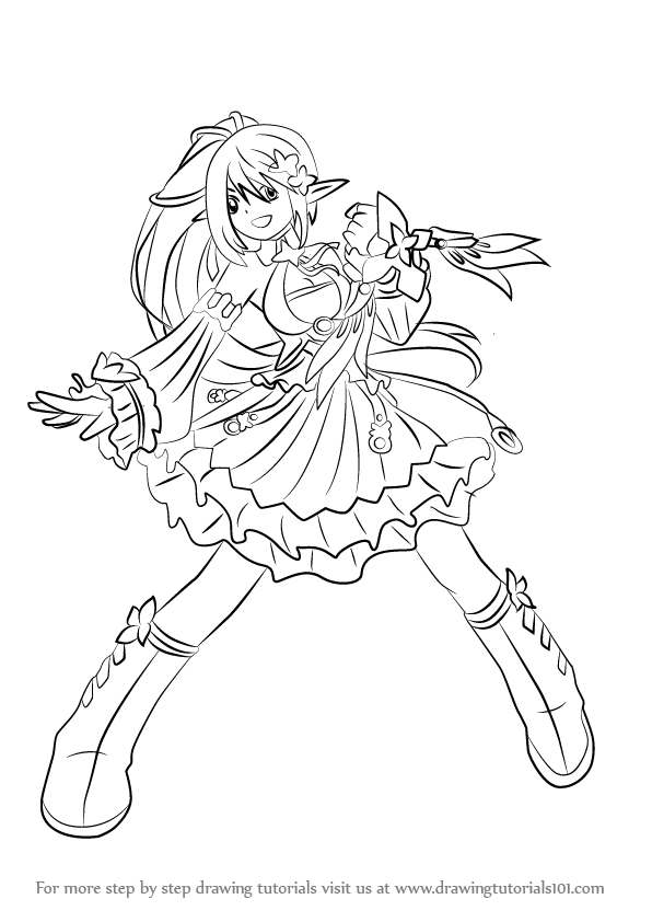 Learn How To Draw Rena From Elsword Elsword Step By Step
