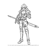 How to Draw Alm from Fire Emblem
