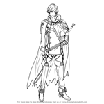 How to Draw Chrom from Fire Emblem