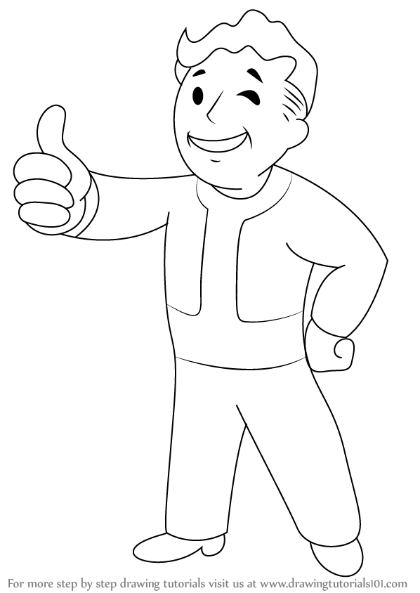 fallout vault boy coloring pages - photo#20