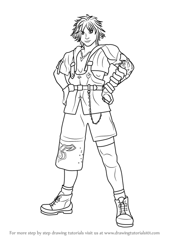 Learn How to Draw Tidus from Final Fantasy X (Final ...