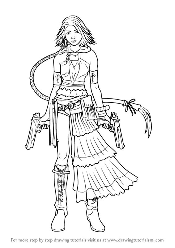 Learn How To Draw Yuna From Final Fantasy X Final Fantasy