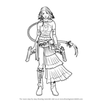 How to Draw Yuna from Final Fantasy X
