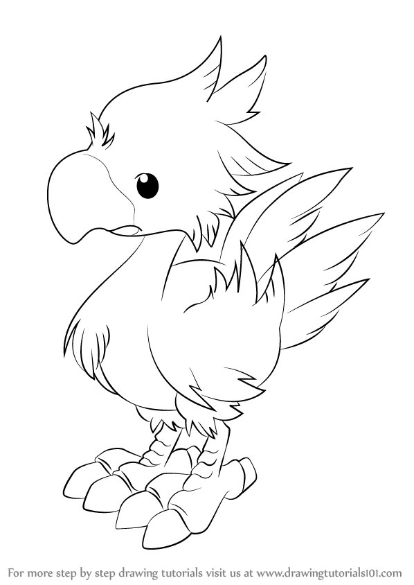 Learn how to draw chocobo from final fantasy final for Final fantasy coloring pages