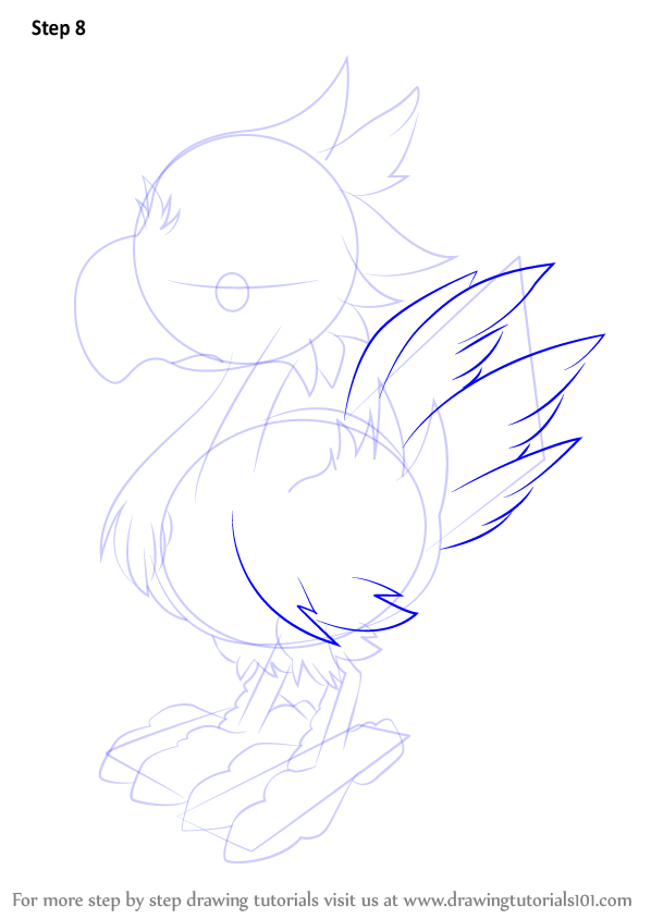 Step by Step How to Draw Chocobo