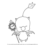 How to Draw Mog from Final Fantasy