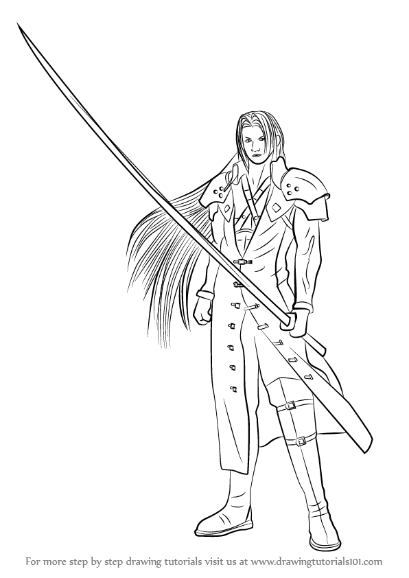Learn How To Draw Sephiroth From Final Fantasy Final