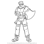 How to Draw Bartre from Fire Emblem