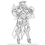 How to Draw Camilla from Fire Emblem