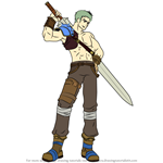 How to Draw Dieck from Fire Emblem